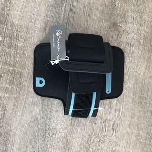 Velcro phone holder for running
